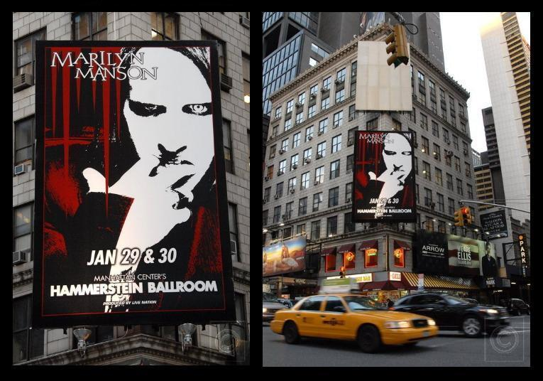 Marilyn Manson | Rape of the World Tour 2007 - 2008 Poster NYC